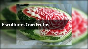Impressionante Esculturas Feitas Com Frutas E Legumes, Olha Só Que Legal!