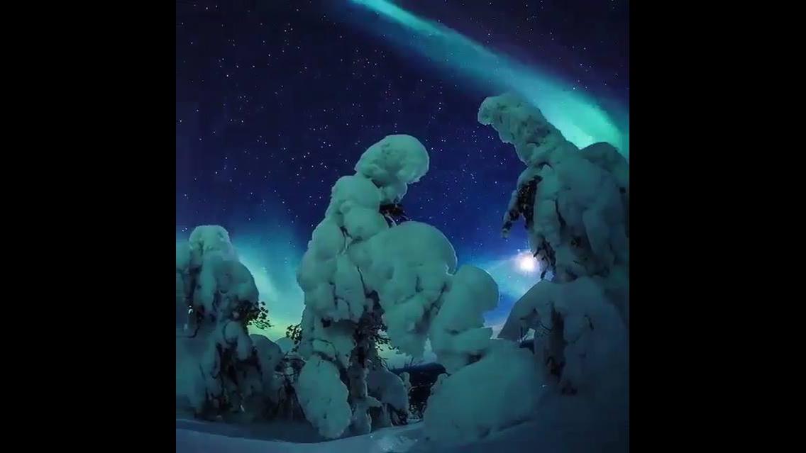 Impressionante fenômeno Aurora Boreal