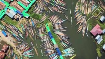 Impressionante Movimentação No Mercado Flutuando Nam Pan, Confira!