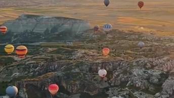 Impressionante Quantidade De Balões Em Capadócia, Uma Bela Imagem!