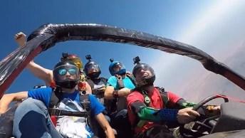 Impressionante Salto De Paraquedas Com Carro Junto, Confira Esta Loucura!