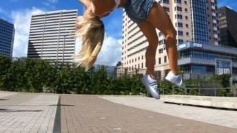 Impressionante Saltos Desta Garota, Vale A Pena Compartilhar!