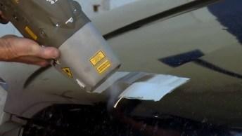 Laser Que Remove Pintura De Qualquer Superfície, Até Mesmo De Carro!