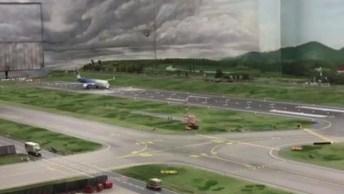 Maquete Impressionante, Olha Só Este Avião Saindo Do Chão E Voando!
