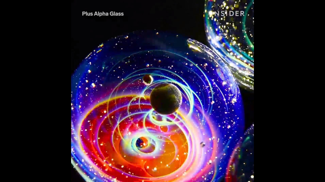 Mini Universo em pequenas esferas de vidro