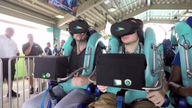 Montanha Russa Com Realidade Virtual, Agora Ficou Sério Isso. . .