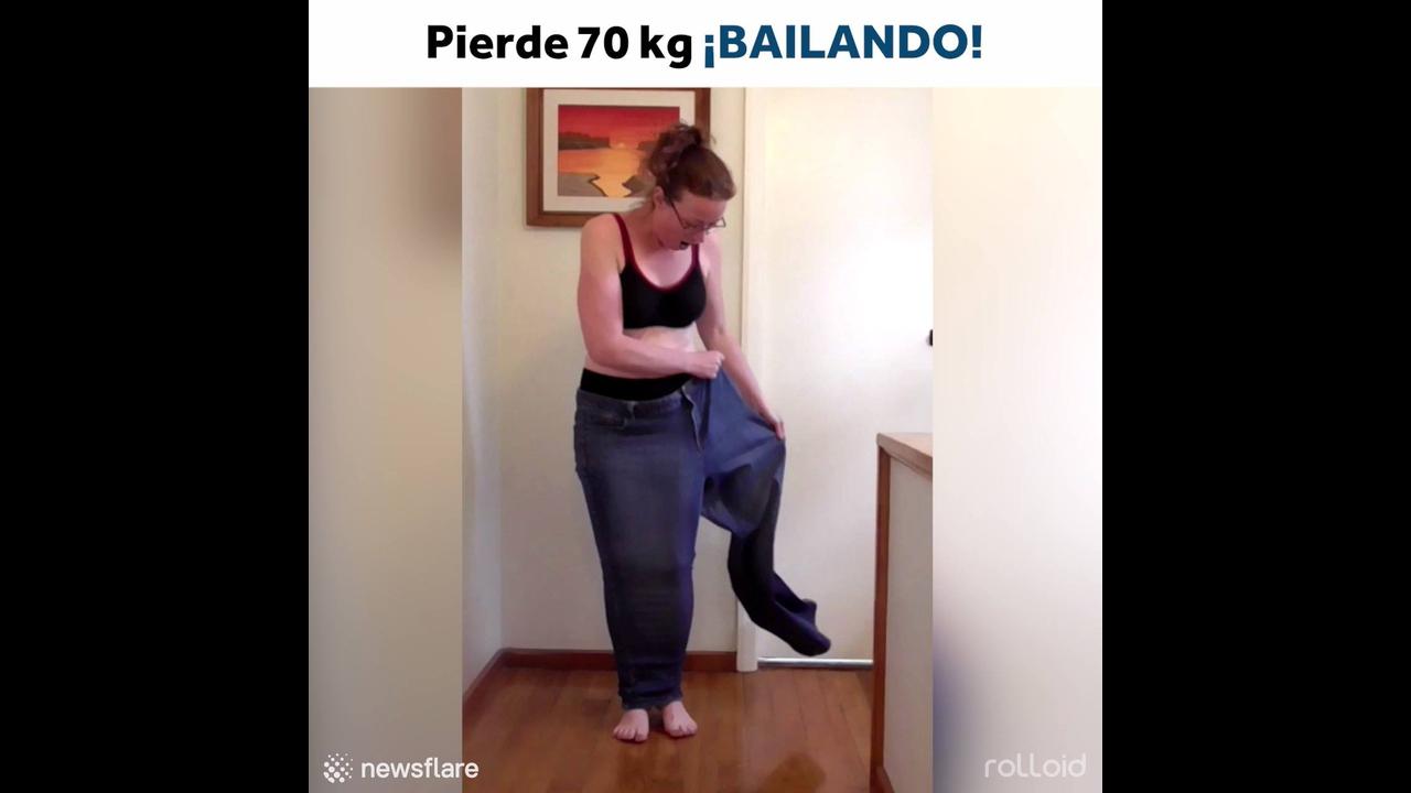Mulher perde 70 quilos dançando