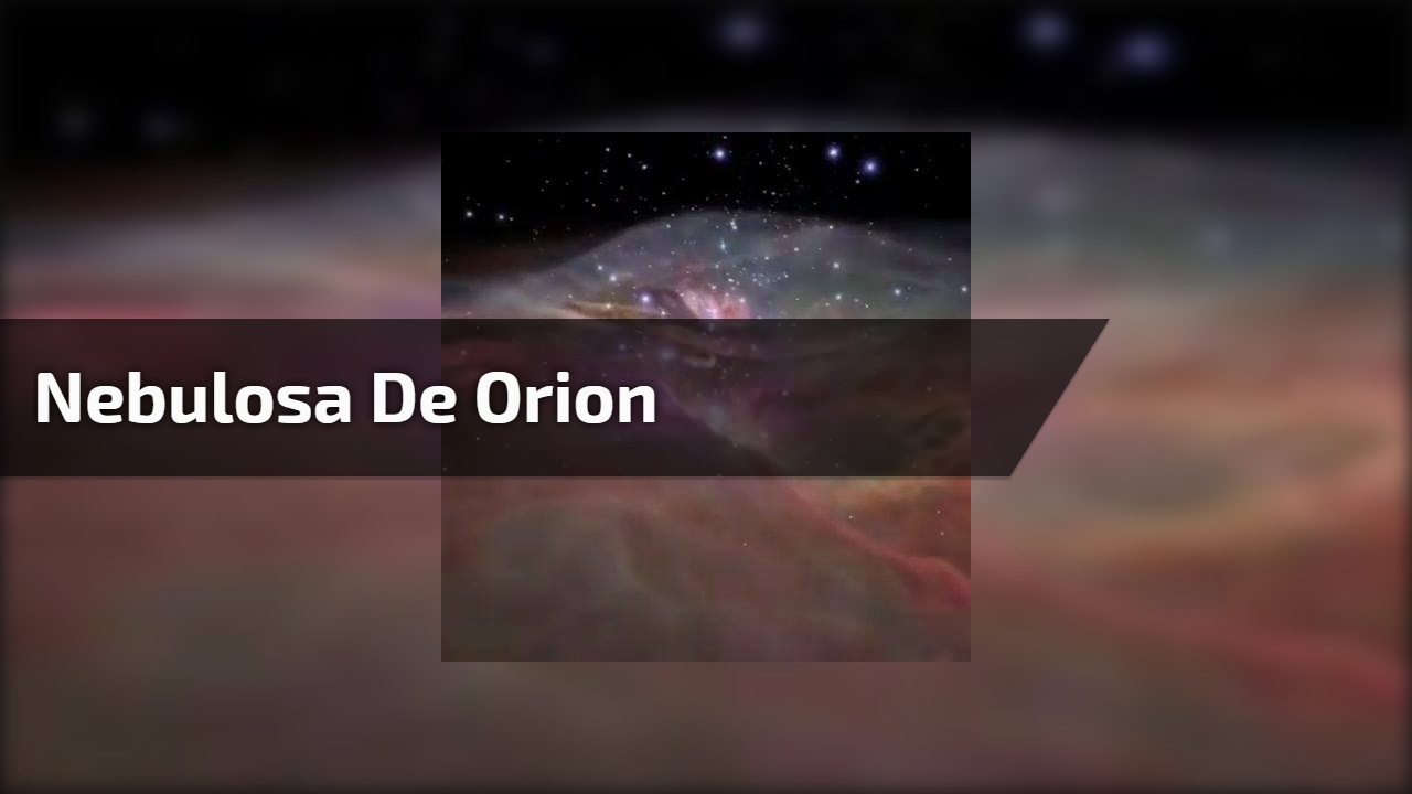 Nebulosa de Orion com mais de três milhões de distância da terra, que incrível!