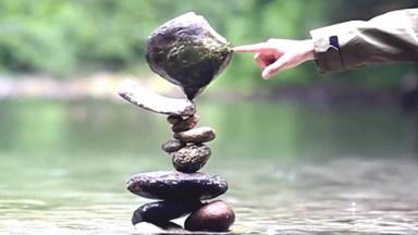 O Incrível Poder Da Paciência Com Equilíbrio, Impressionante A Habilidade!