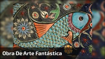 Obra De Arte De Peixe Impressionante, Você Não Vai Acreditar Em Como Foi Feito!