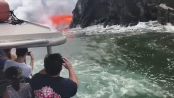 Olha Só Que Impressionante A Lava De Um Vulcão No Havaí Se Encontrando Com Mar!
