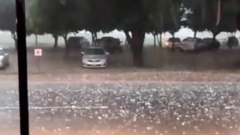 Olha Só Que Impressionante Esta Chuva De Granizo, A Força Da Natureza É Incrivel