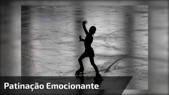 Patinadora Emociona A Todos Com Dança E Música Escolhida, Ficou Lindo!