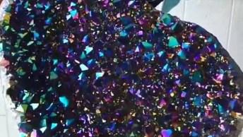 Quartzo Aura Titânio Veja Que Tamanho Desta Pedra Incrível!