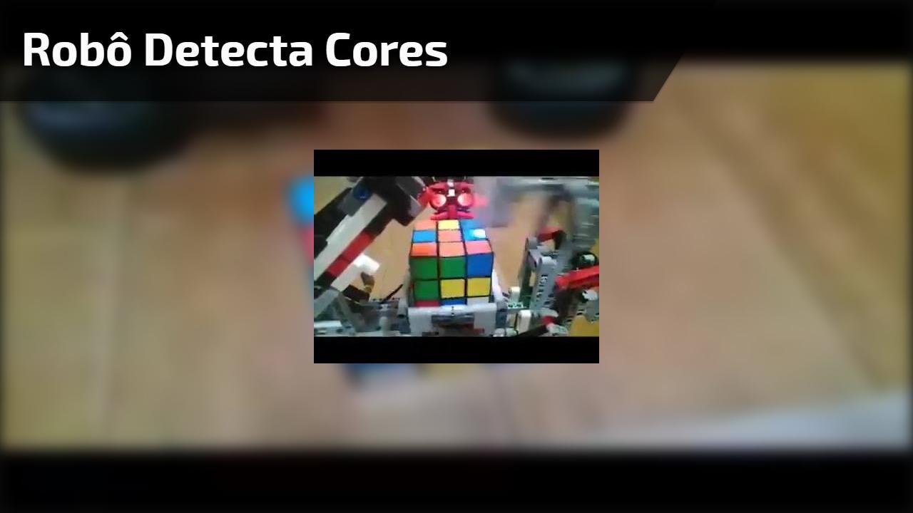 Robô detecta cores