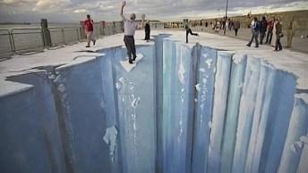 Veja Que Incrível Estas Pinturas 3D Feitas No Chão De Ruas Em Meio A Cidade!