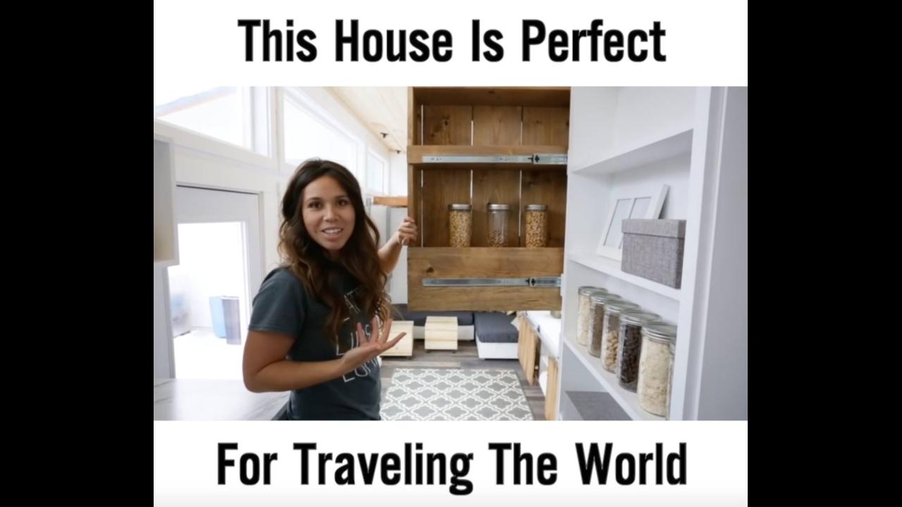Vídeo com casa para viagem impressionante