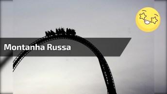 Vídeo Com Montanha Russa Impressionante, Olha Só A Altura Em Que Ela Desce!