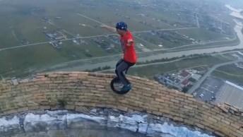Vídeo Impressionante Com Pessoas Praticando Esporte Em Lugares Altíssimos!