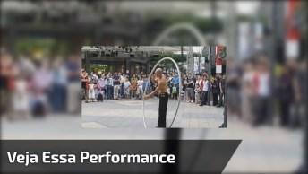 Vídeo Impressionante Mostrando Performance Deste Artista De Rua!