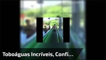 Vídeo Mostrando Impressionantes Descidas De Toboáguas, Veja Que Incrível!
