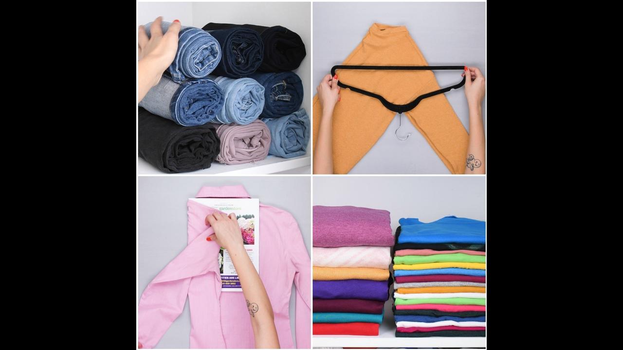 Aprenda a dobrar roupas e organizar seu guarda roupa