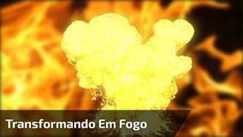 Bolhas De Hidrogênio Se Transformando Em Fogo, Veja Que Interessante!