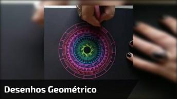 Desenho Muito Legal Feito Com Desenhos Geométricos, Muito Interessante!
