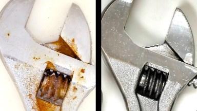 Dica De Como Limpar Ferramentas Enferrujadas, Usando Produtos Naturais!