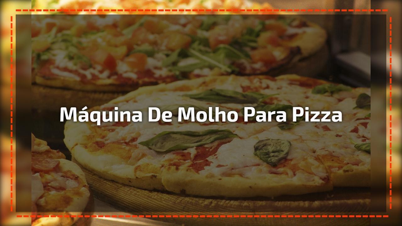 Máquina de molho para pizza
