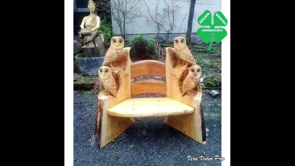 Móveis feito com madeira reaproveitável, uma verdadeira obra de arte!