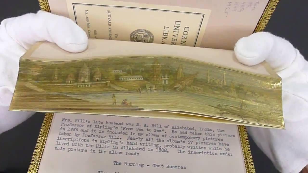 Pinturas secretas escondidas nas bordas douradas dos livros antigos