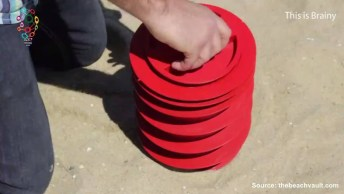 Porta-Treco Para Utilizar Na Praia - Uma Ideia Muito Interessante!