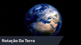 Rotação Da Terra Em Apenas 6 Segundos! É Magnifico Como Como É Lindo O Planeta!