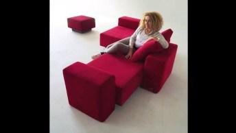 Sofá Multifuncional Maravilhoso, Veja Quantas Maneiras Da Para Usa-Lo!