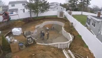 Vídeo Muito Interessante Mostrando A Construção De Uma Piscina!