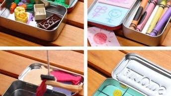 4 Ideias Para Fazer Brinquedos Com Latinha De Bala, Confira!
