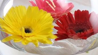 Arranjo De Flores Simples E Fácil De Fazer, Muito Legal Este Tutorial!