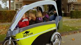 Bicicleta Elétrica Que Serve De Táxi Para Crianças, Uma Ideia Muito Legal!