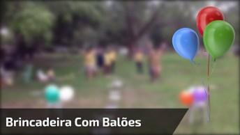 Brincadeira Com Balões Para Fazer Com A Família E Amigos!