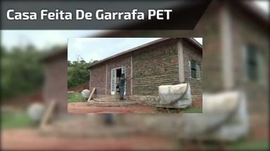 Casa Feita De Garrafa Pet Em Estrema Uma Ótima Opção Para Sustentabilidade!