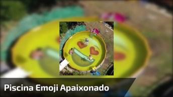 Como Fazer Uma Piscina Emoji Apaixonado, Que Resultado Incrível!