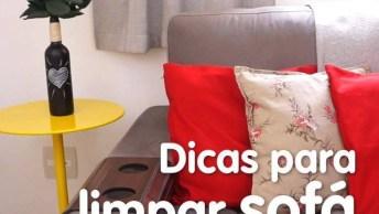 Como Limpar Seu Sofá De Tecido, Uma Dica Bem Simples E Que Deixará Novinho!