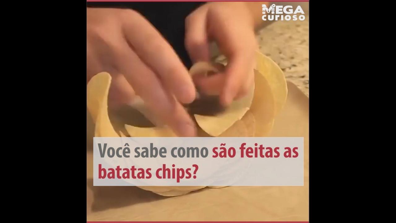 Como são feitas as batatas chips ?