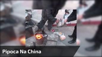 Como Se Faz Pipoca Na China, Um Jeito Bem Diferente Do Que Você Já Viu!