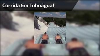Corrida Em Toboágua, Você Teria Coragem De Participar Dessa Corrida Legal?