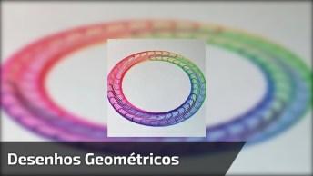 Desenhos Geométricos Super Legais, Feitas Com Régua Espirógrafo!