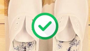 Ideia Legal Para Deixar Seu Tênis Branco Impermeável, Confira!