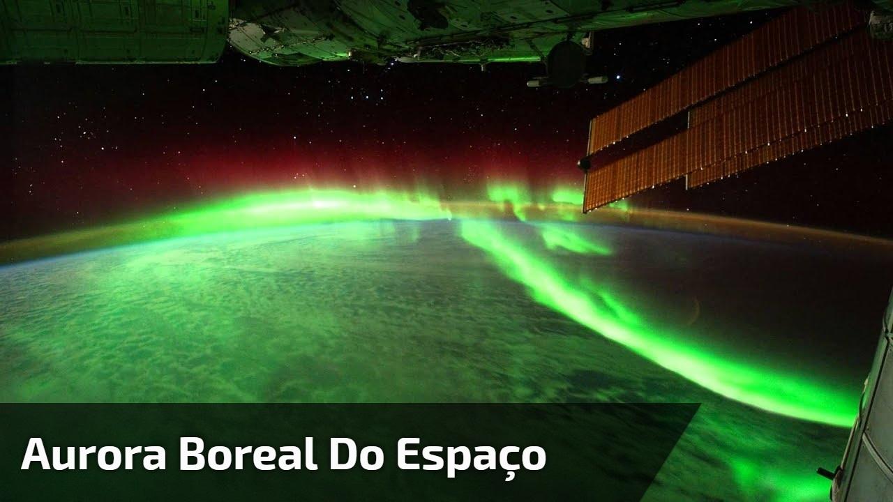 Aurora Boreal do espaço