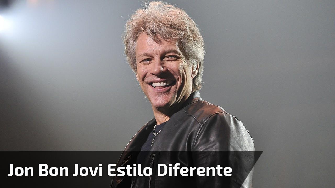 Jon Bon Jovi estilo diferente